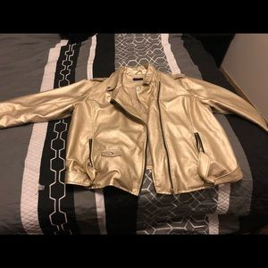 Gold faux leather jacket  RUE 21